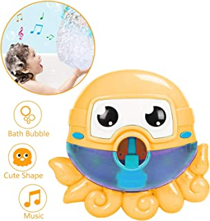 Seckton Bath Toys for 1-3 Year Old Boys Girls Bubble Machine for Kids Bathtub Toy Octopus Bubble Maker Toddlers Bubble Blo...