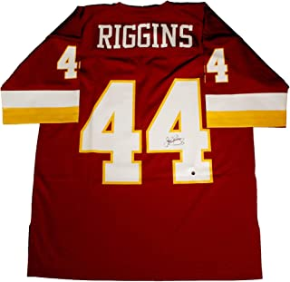 John Riggins Signed Washington Redskins Replica Mitchell & Ness Jersey - Steiner Sports Certified - Autographed NFL Jerseys