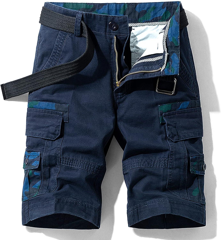 Dellk Cotton Camouflage Cargo Shorts Men New Mens Casual Male Loose Work Men's Military Short Pants Plus Size