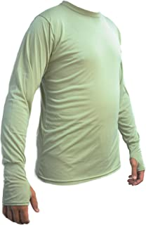 KENYON Men's Silk Weight Thermal Crew Top with Thumb Cuff