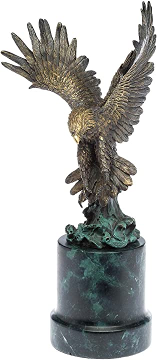 Scultura in bronzo aquila preda figura scultura in bronzo 48 centimetri scultura B00OQBAQGM