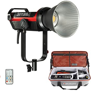Aputure LS C300D II COB Light Storm 300d Mark II 350W 5500K Daylight Balanced Led Video Light CRI 96+ TLCI96+ 45000lux@0.5m with The Reflector 8 Built-in Lighting FX Low V-Mount