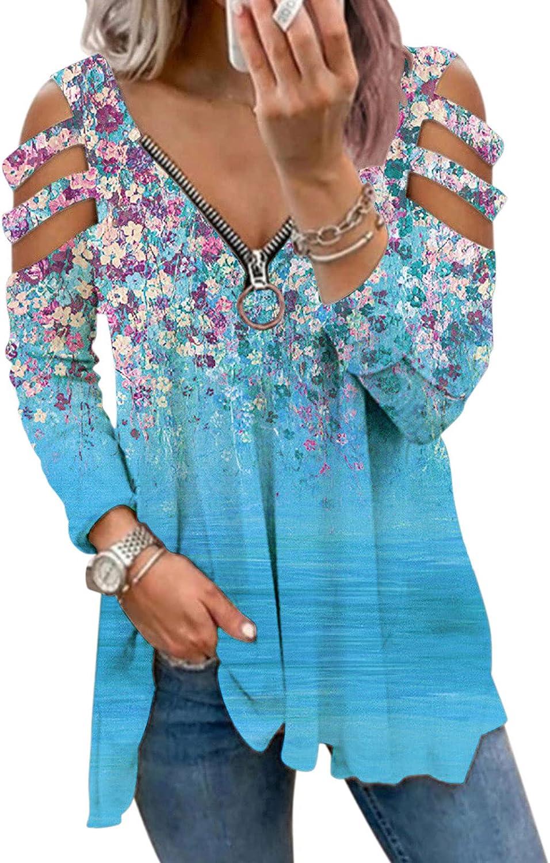 Sweatshirts for Women, Women Zip Up Sweatshirt Vintage Graphic Print Oversized Long Sleeve Aesthetic Fashine Shirt