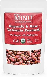 GoMix Organic Raw Valencia Peanuts, 16 oz (1 lb) #1 Keto Paleo Snack, MiNU Mindful Nutrition, Unsalted, Superfood, Protein, Vegan, NonGMO, Gluten Free, No Nonsense!
