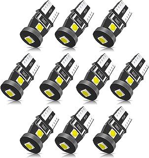 SEALIGHT 194 LED Bulb 6000K White Super Bright 168 2825 W5W T10 Wedge LED Bulbs, Canbus Error Free for Car Interior Dome M...