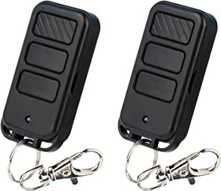 2 Mini Keychain Garage Door Opener Remote for Liftmaster 371LM 373LM (2005-Current Purple Button)