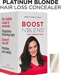 BOOSTnBLEND Platinum Blonde Hair Loss Concealer for Women with Hair Loss. Covers up Visible Scalp for Women with Visible Thinning Hair 22g/0.78oz