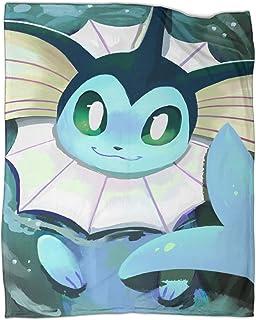 STTYE - Coperta da viaggio per bambini e donne, motivo: Pokemon anime, 80 x 100 cm