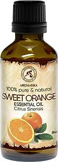 Orangenöl - 100% Reine Ätherisches Orangenöl 50ml - Brasilien - Orangen Öl für Guten Schlaf - Raumduft - Duftlampe