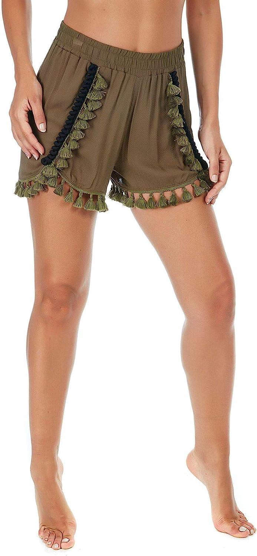 FK Women's F18F2A171GREEN Green Cotton Shorts