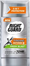 Right Guard Xtreme Defense 5 Antiperspirant Deodorant, Fresh Blast, 2.6 Ounce (Pack of 6) Packaging may vary