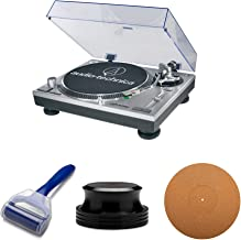 Audio-Technica AT-LP120-USB Direct-Drive USB Turntable with Knox Gear Cork Platter Mat ,Record Clamp and Record Cleaning Roller