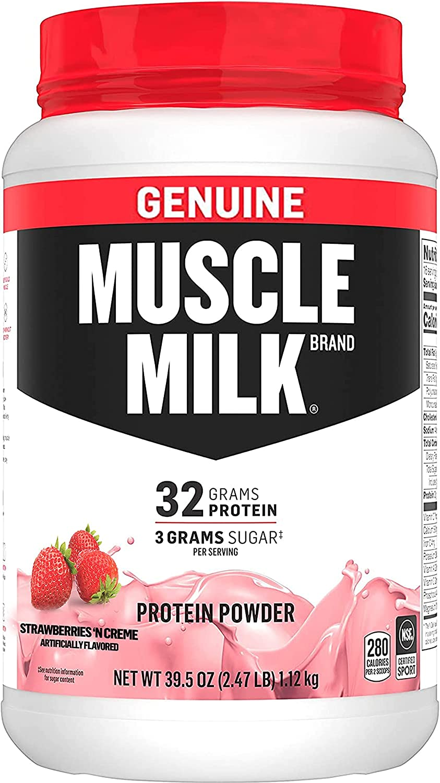 Muscle Milk Genuine Protein Powder Creme Atlanta Mall P Kansas City Mall 32g Strawberries 'N
