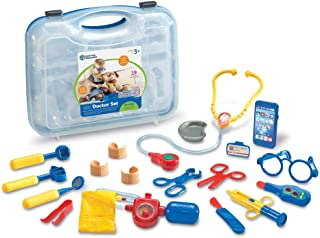 Learning Resources Pretend & Play Doctor Kit, Doctor Kit for Kids, Medical Toy, 19 Pieces, Blue, Ages 3+