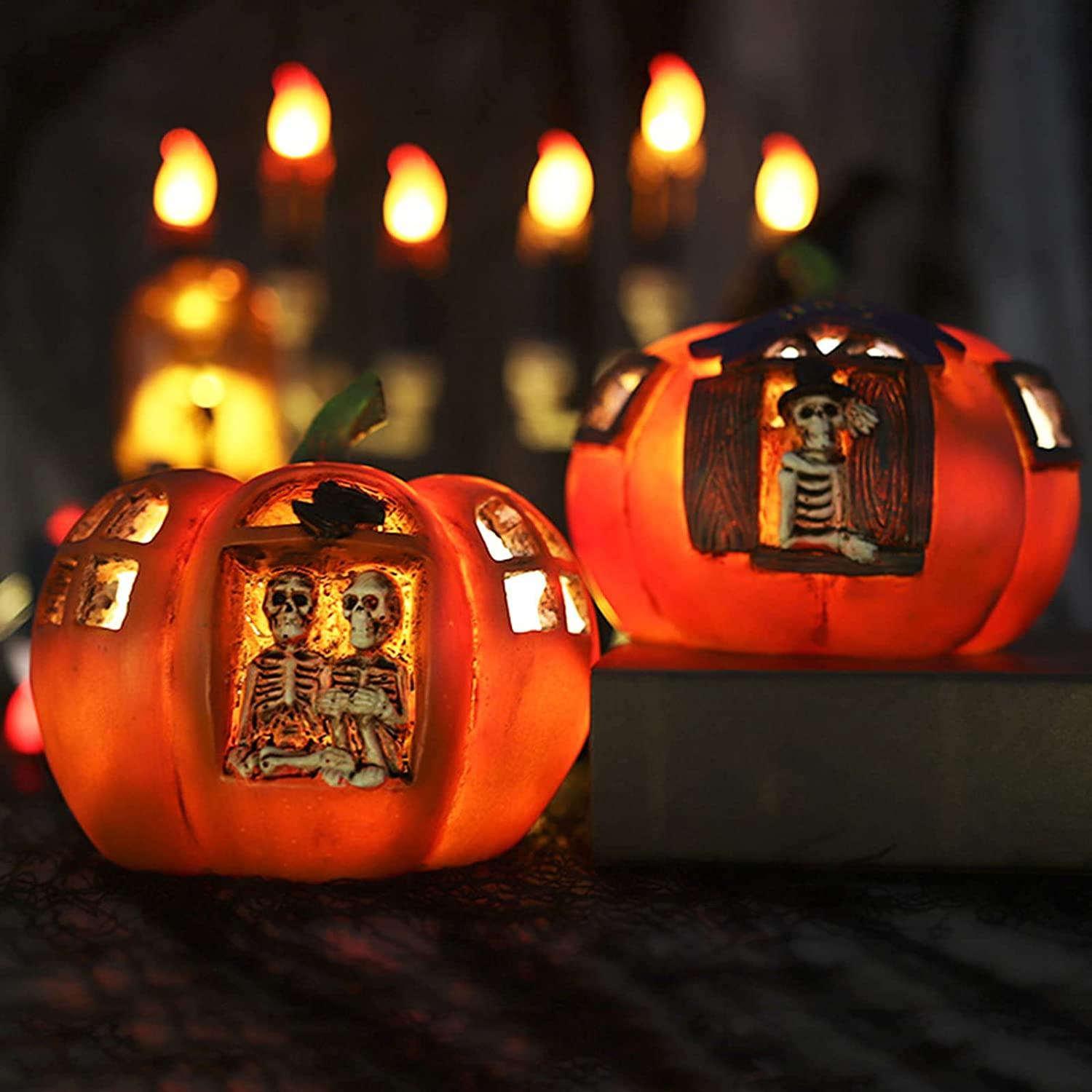 FKDG 2pcs Halloween Pumpkin Limited price Shaped Light Night National products Lamp Bedr