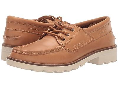 Sperry A/O Leather Lug Boat Shoe (Tan) Women