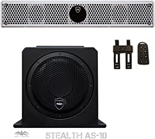Wet Sounds Package - White Stealth 6 Ultra HD Sound Bar w/ Remote and AS-10 10