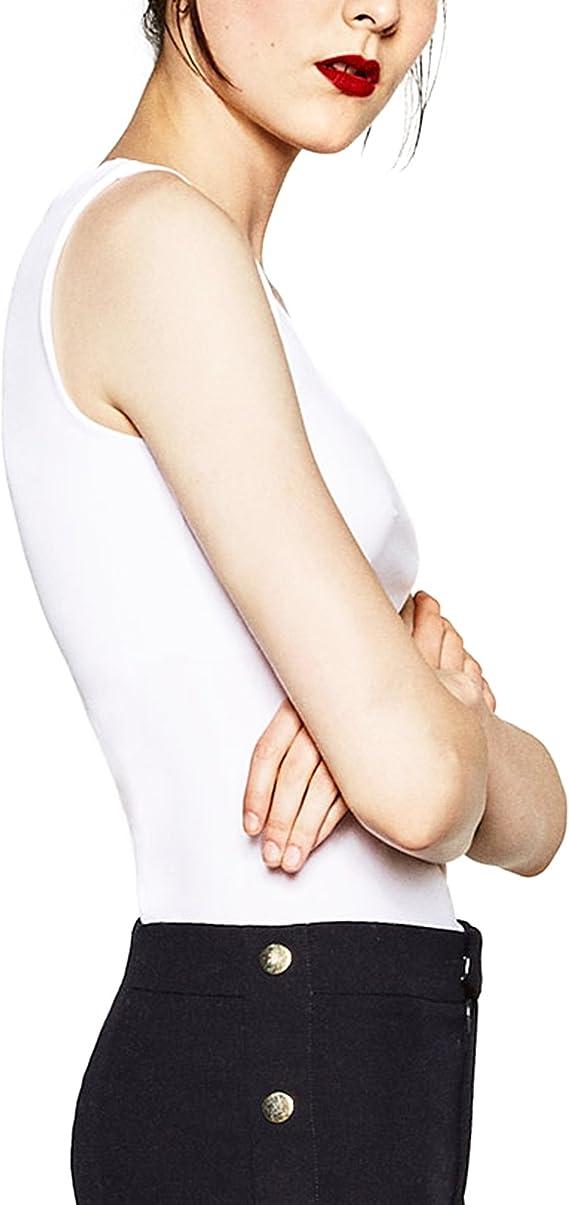 Zara 0264/531/250 - Camiseta de tirantes anchos para mujer ...