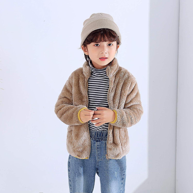 Chaqueta de invierno con capucha para beb/és y ni/ñas de 1 a 9 a/ños de franela c/álida y c/álida forro polar Sunnymi