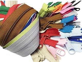 Zipperstop Wholesale YKK 60cm Purse Zippers Extra Long Handbag Pull Assorted Colours 19 Piece Pack YKK 4.5 Handbag Closed ...