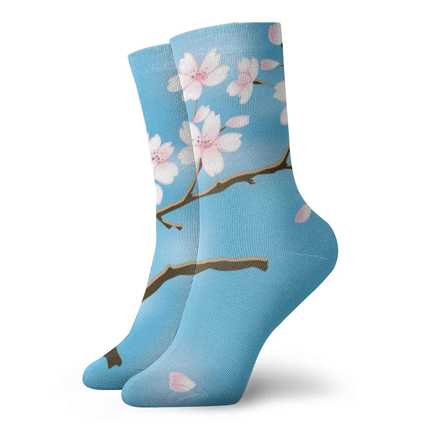 WEEDKEYCAT Spring Flowers Adult Short Socks Cotton Gym Socks for Mens Womens Yoga Hiking Cycling Running Soccer Sports