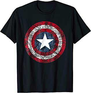 Captain America Avengers Shield Comic Graphic T-Shirt