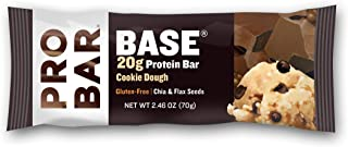 PROBAR - Base Protein Bar, Cookie Dough, Non-GMO, Gluten-Free, Certified Organic, Healthy, Plant-Based Whole Food Ingredients (12 Count) Packaging May Vary