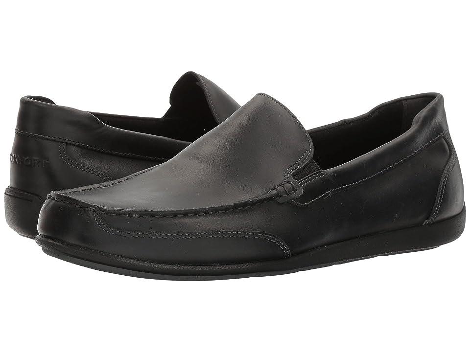 Rockport Bennett Lane 4 Venetian (Black Leather) Men