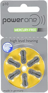 Hearing Aid Battery Powerone size 10 made in Germany Genuine Pack