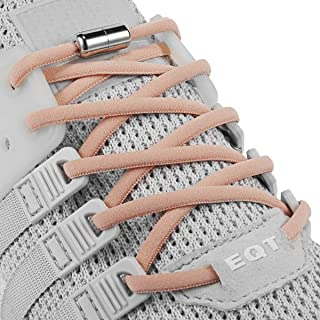 Elastic No Tie Shoe Laces For Adults,Kids,Elderly,System With Elastic Shoe Laces(2 Pairs) Orange Size: X-Large