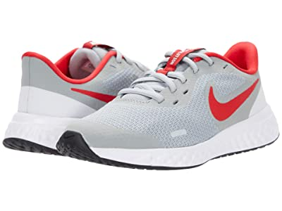 Nike Kids Revolution 5 (Big Kid) (Light Smoke Grey/University Red/Photon Dust) Kids Shoes