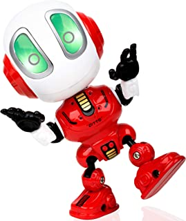 Force1 Ditto Mini Talking Robots for Kids - Robot Voice Changer Toy with Posable Body and LED Eyes, Red