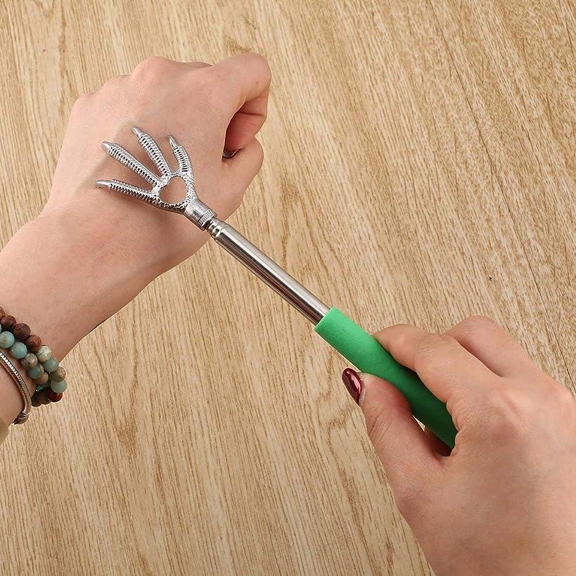 シャイニングサンダー克服するCompact Telescopic Claw Stainless Steel Massager Back Scratcher 22-58cm Adjustable Back Scratching Massage Hand Claw
