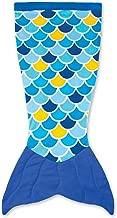 Fin Fun Mermaid Tail Blanket for Girls - Cuddle Tail Slumber Bag (Wave Blue, Kids)