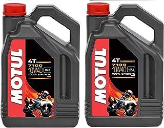 Motul 104092 Set of 2 7100 4T 10W-40 Motor Oil 1-Gallon Bottles