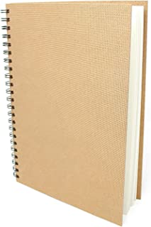 Artway Enviro - Spiral Bound A4 Sketch book - Portrait - 70 Pages (35 Leaves) of 100% Recycled 170gsm Cartridge Paper - Ha...