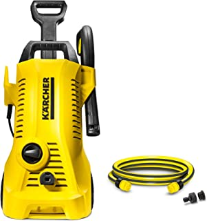 Bundle Karcher Pressure Washer 110bar, 1400W + 1 Connection Set for Car and Home Cleaning