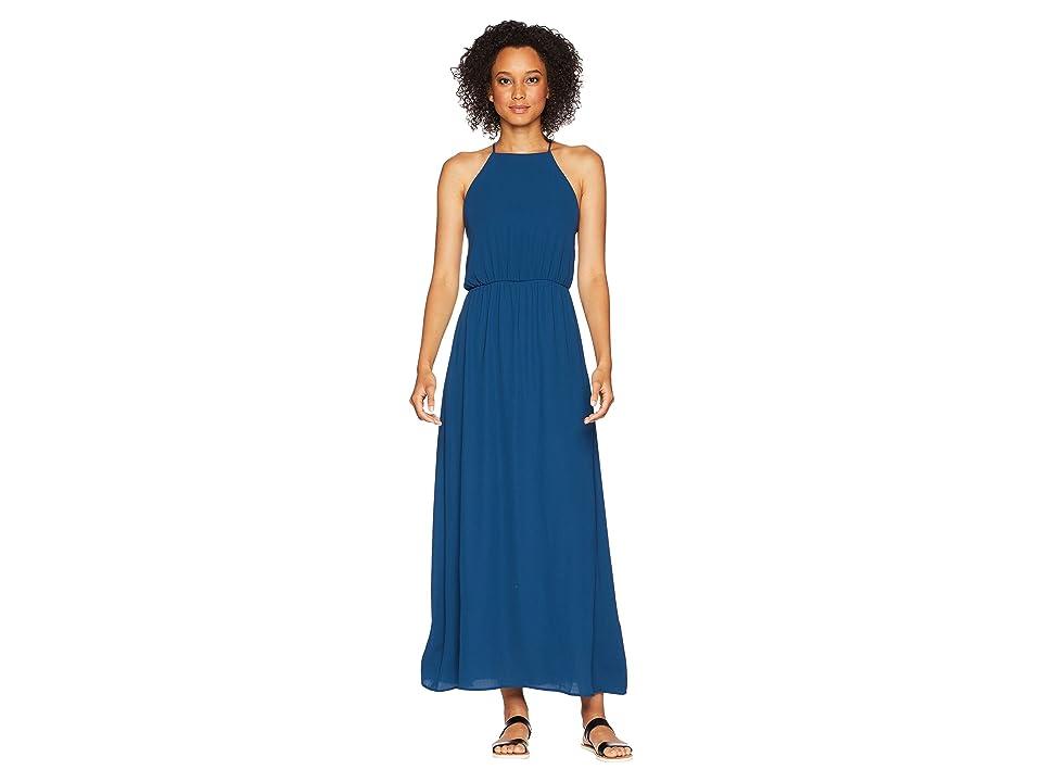 American Rose Ingrid Spaghetti Strap Maxi Dress (Navy) Women
