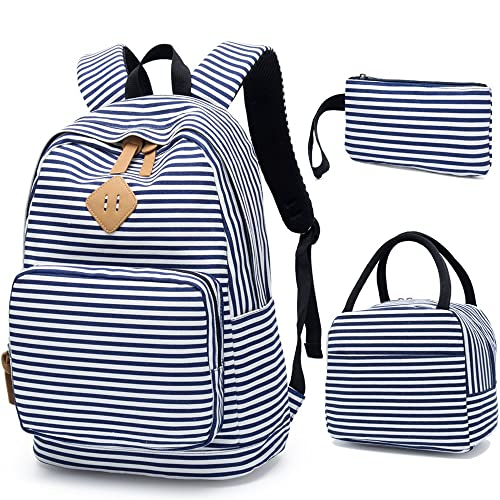 74a4801d9437 BLUBOON School Backpack for Girls Canvas Bookbag College Laptop Rucksack  Women Ladies Travel Daypack Lunch Box