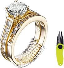 Mtlee Ring Size Adjusters for Loose Rings Ring Guard Ring Sizer 16 Pieces in 4 Sizes with Scissor Jewelry Polishing Cloth