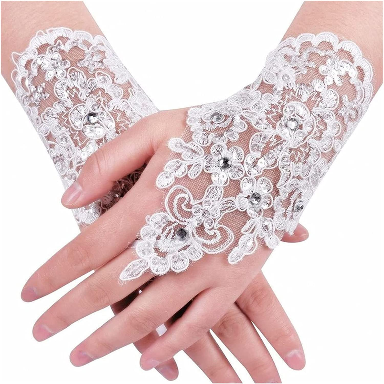 Clearance SALE Limited time FAMYNGL Lace Gloves sale Vintage Bridal Wrist Fingerless Iv Paragraph