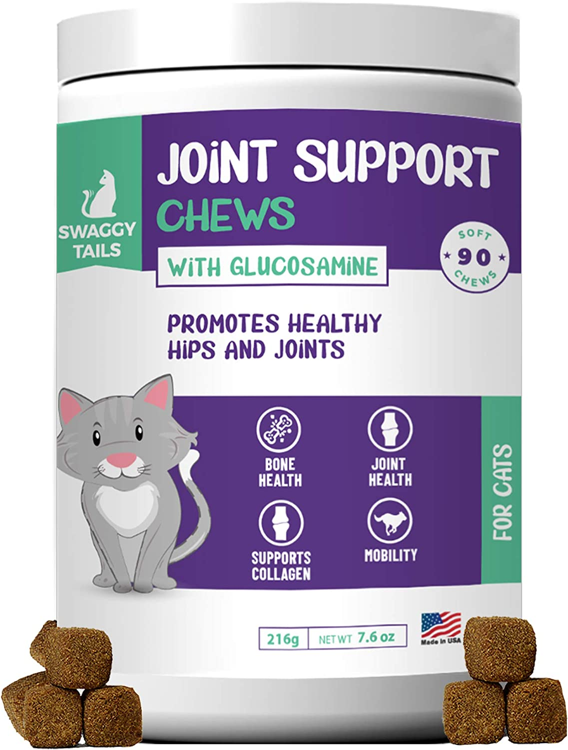 SWAGGY TAILS Glucosamine outlet for Inflammation Joint It is very popular Cats Supplement