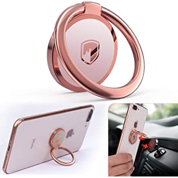 Stand Car Mount 2 Pack Grey . Cell Phone Finger Ring 360/°Universal Zinc Alloy Grip with 3M Adhesive For Iphone Samsung or Other Cell Phones and Pads. Loop Holder