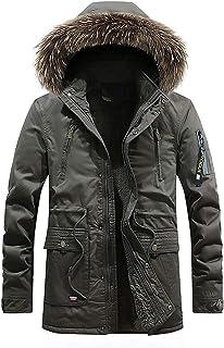 chouyatou Men`s Warm Sherpa Lined Winter Parka Down Alternative Jacket Removable Fur Hood