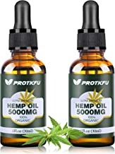 (2 Pack) 5000MG Hemp Oil for Pain, Anxiety & Stress Relief - 100% Natural Organic Hemp Extract - Rich in Vitamin & Omega, ...