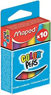 Maped Colour Peps M593501 Chalk Pack of 10 Round Assorted Colours