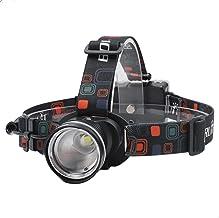 Hoofd Torch Koplamp T6 LED Koplamp 3-Mode Zoom Koplamp Waterdichte Hoofd Torch voor Camping Jacht Zaklamp door AA Batterij