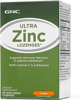 GNC Ultra Zinc Lozenges, Orange, 48 Lozenges, Supports Immune Function and Natural Resistance