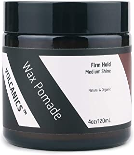 Volcanics Wax Paste Pomade, Volumizing Hair Styling Paste for Men with Firm Hold, Conditions and Softens Hair, Natural, Organic Formula and Scented with Essential Oils (4oz)