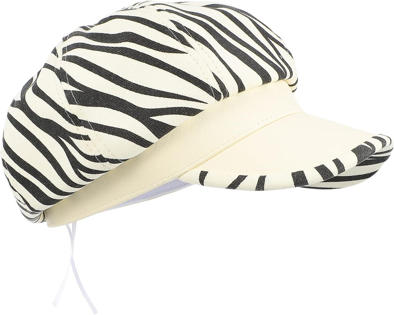 Manufacturer OFFicial shop Amosfun Summer Newsboy Cap Striped Cotton 35% OFF Hats Fre Beret